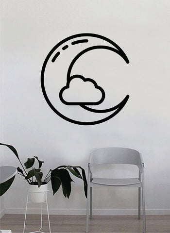 Moon Cloud Decal Sticker Wall Vinyl Art Home Room Decor Bedroom Nature Kids Teen Baby Nursery Playroom
