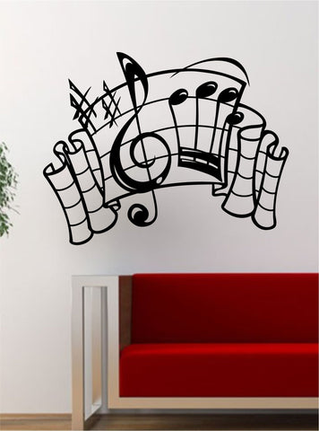 Music Notes Version 4  Art Decal Sticker Wall Vinyl Decor Home Room
