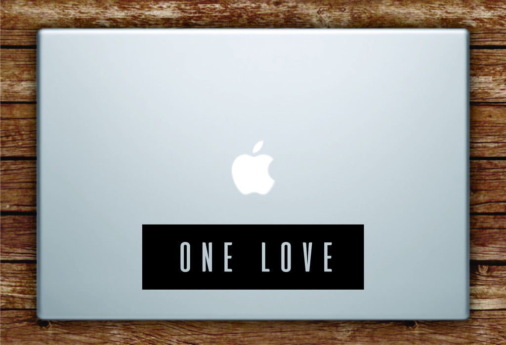 One love rectangle laptop apple macbook quote wall decal sticker art vinyl bob marley music reggae