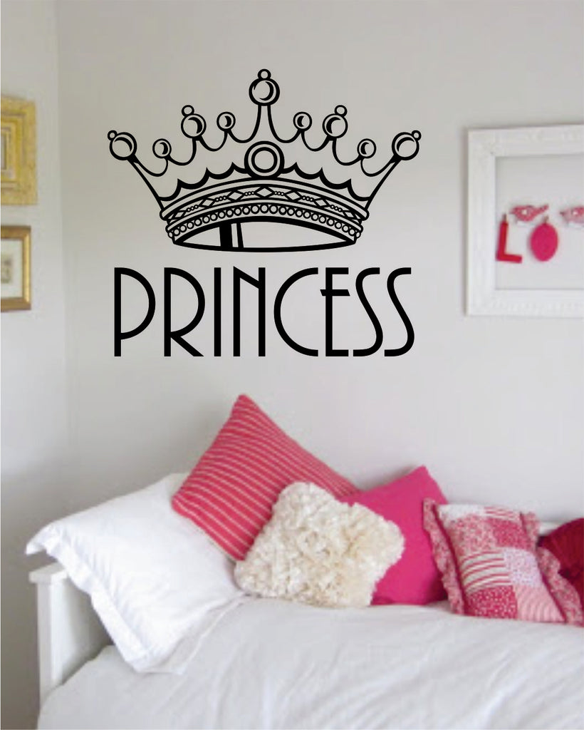 Princess Crown V2 Girls Queen Daughter Cute Wall Decal Sticker Vinyl Art Bedroom Living Room Decor Teen
