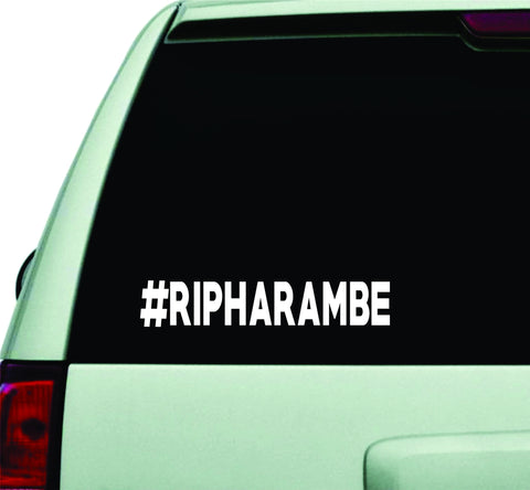 RIP Harambe Hashtag Car Window Decal Sticker Wall Vinyl Art Decor Gorilla Zoo
