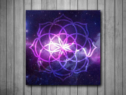 Space Mandala Art Background Photo Panel - Durable Finish - High Definition - High Gloss