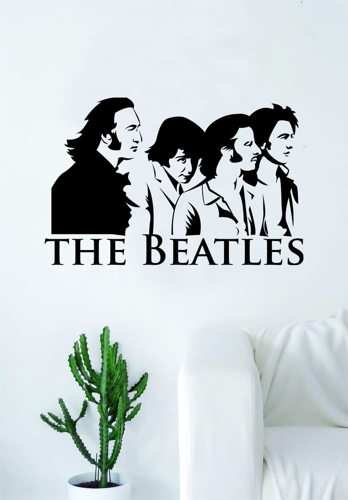 the beatles logo decal sticker wall vinyl art living room bedroom