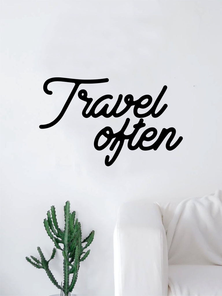 Travel Often V2 Quote Decal Sticker Wall Vinyl Art Home Room Decor Exp Boop Decals