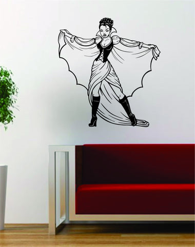 Vampire Dracula Girl Pin Up Design Decal Sticker Wall Vinyl Art Decor Home