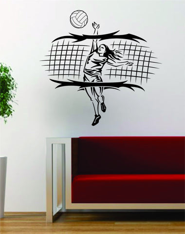 Volleyball Player and Net Sports Design Decal Sticker Wall Vinyl Art Decor Home - boop decals - vinyl decal - vinyl sticker - decals - stickers - wall decal - vinyl stickers - vinyl decals