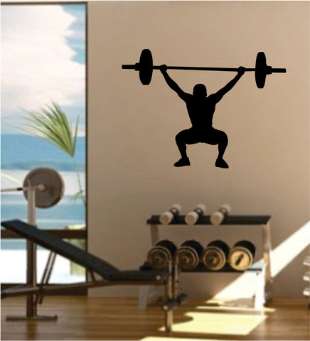 Weightlifter Decal Sticker Wall Vinyl Art Wall Bedroom Room Decor Motivational Inspirational Teen Sports Gym Fitness