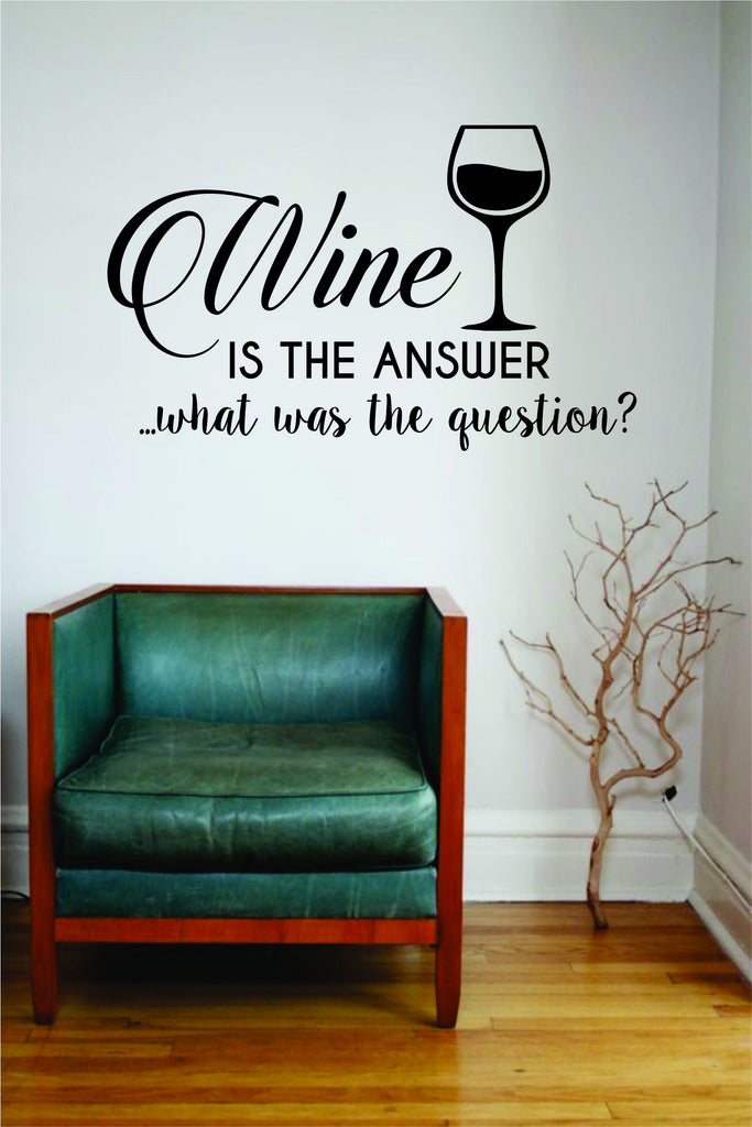 w is the answer wall decal sticker room art vinyl beautiful quote