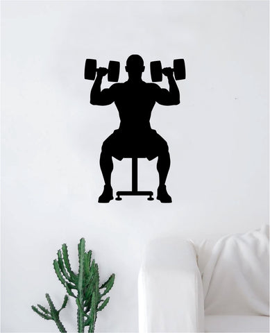 Working Out Decal Sticker Wall Vinyl Art Wall Bedroom Room Decor Motivational Inspirational Teen Sports Gym Fitness