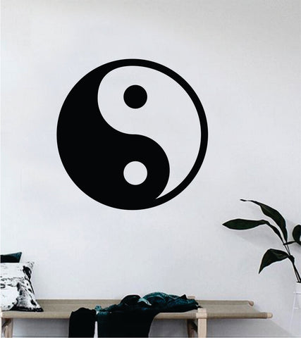 Yin Yang Big Quote Wall Decal Sticker Decor Vinyl Art Bedroom Teen Good Vibes Happy Yoga Balance Namaste