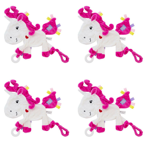 Silver the Unicorn Taggie Baby Comforter - PACK OF 4