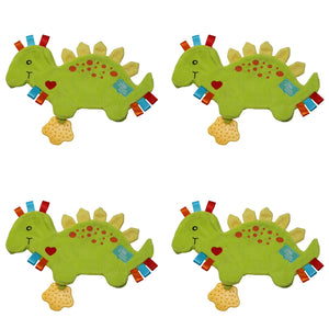 Spike the Dinosaur Taggie Baby Comforter - PACK OF 4