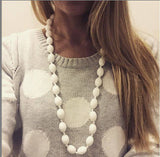 Audrey Silicone Necklace White