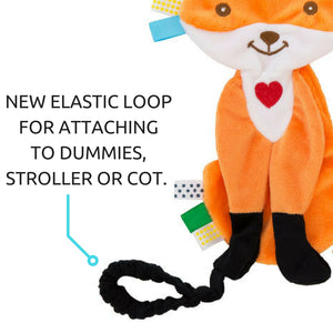 Felix the Fox Taggie Baby Comforter with toy saver strap