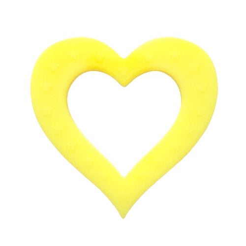 Heart of Hearts Silicone Baby Teether Yellow
