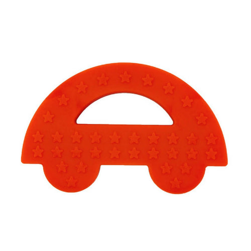 Charlie Car Silicone Baby Teether Red
