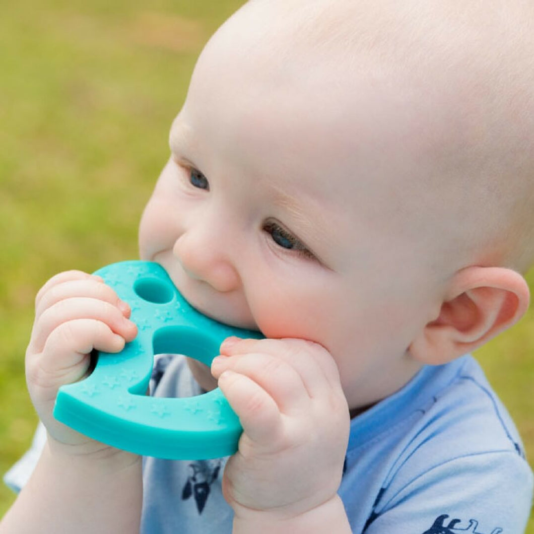 Little Birdy Silicone Baby Teether Blue