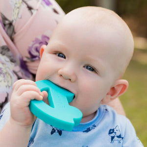 Charlie Car Silicone Teething Toy Blue