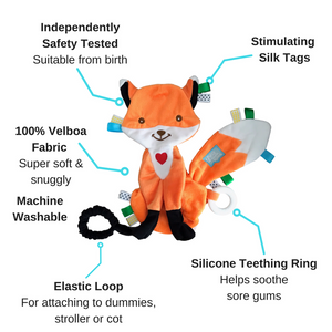 Felix the Fox Taggie Baby Comforter features
