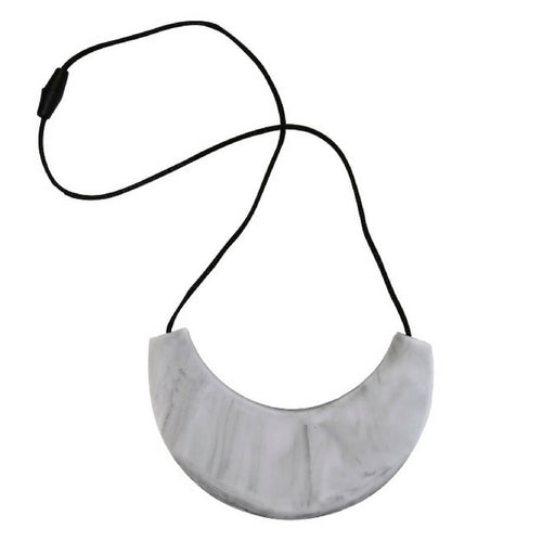 Cleopatra Silicone Teething Necklace Marble Black/ Grey
