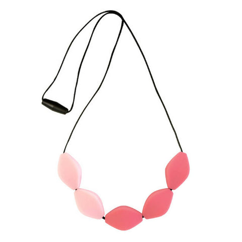 Large Tulip Silicone Breastfeeding Necklace Pink/ Watermelon