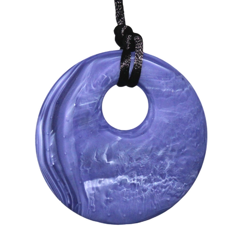Pendant Silicone Necklace Purple Swirl