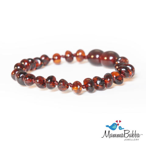 Baltic Amber Anklet Cherry