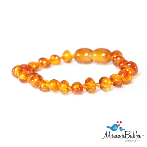 Baltic Amber Anklet Cognac