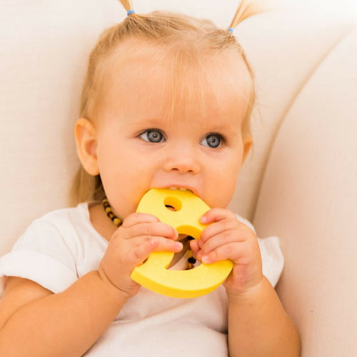 Little Birdy Silicone BPA Free Teether Yellow