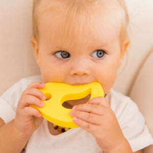 Little Birdy Silicone Teething Toy Yellow