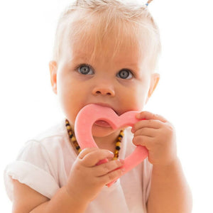 Heart of Hearts Silicone BPA free Teething Toy Pink