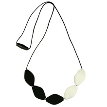 Large Tulip Silicone Teething Jewellery Black/ White