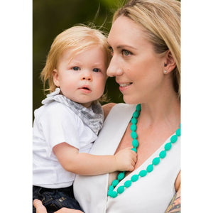 Audrey Silicone Teething Necklace Turquoise