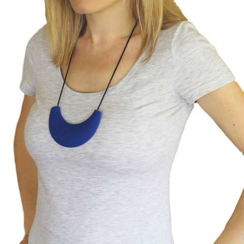 Cleopatra Silicone Necklace Brilliant Blue