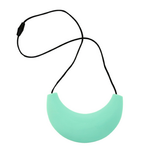 Cleopatra Silicone Teething Necklace Light Teal