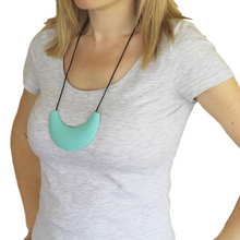 Cleopatra Silicone Nursing Necklace Light Teal