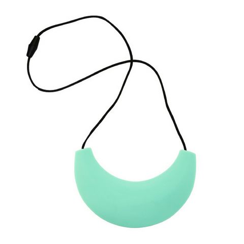 Cleopatra Silicone Necklace Light Teal