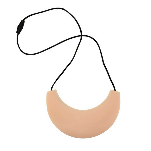 Cleopatra Silicone Breastfeeding Necklace Light Peach