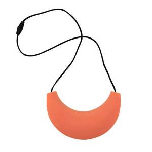 Cleopatra Silicone Breastfeeding Necklace Peach