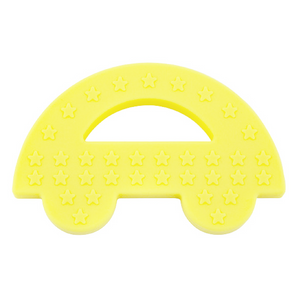 Charlie Car Silicone Baby Teether Yellow