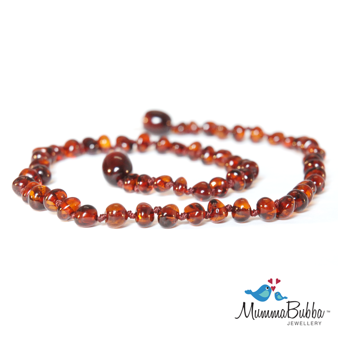 Baltic Amber Necklace Cherry