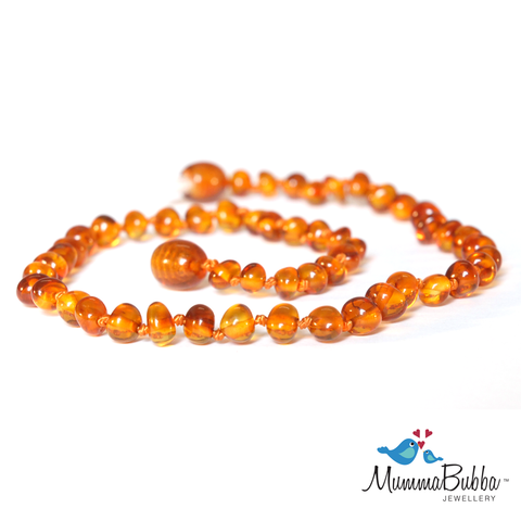 Mummabubba Baltic Amber teething Necklace Cognac