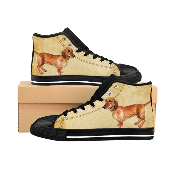 Determined Dachshund! Women's High-top Sneakers
