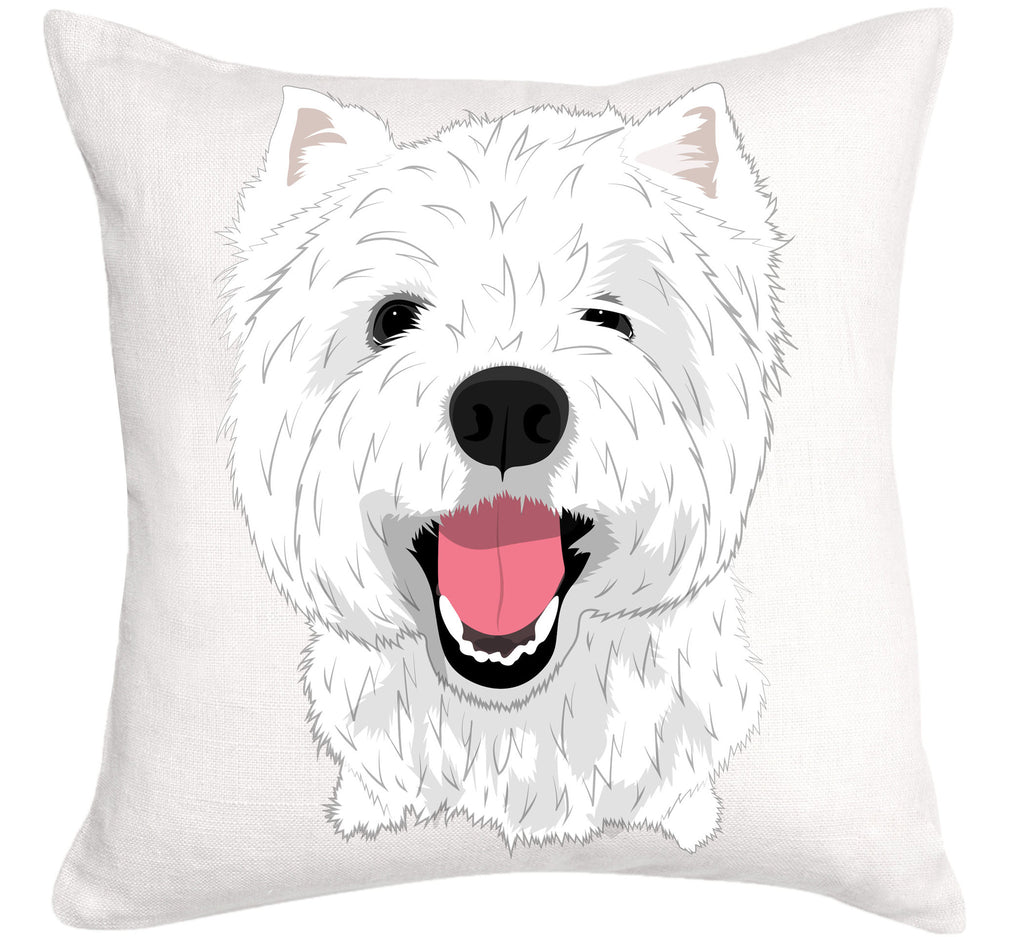 Westie Dog Cushion, West Highland Terrier 100% Cute