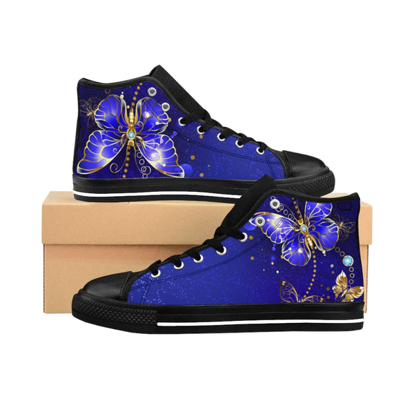 Midnight Butterfly  - Women's High-top Sneakers