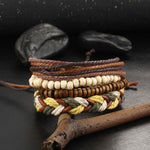 Hunt and Gather - Leather Bracelet Set of 4 - For Men