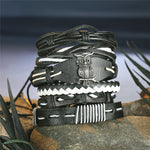 Owl and Bone - Leather Bracelets - Set of 6 - For Men