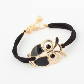 Owl Leather Bracelet - Handmade