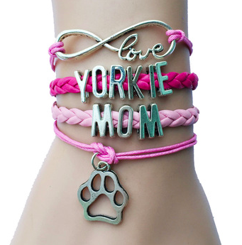 Yorkie Mom Love Bracelet heart - Handmade 1