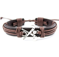 Hockey Love - Handmade Leather Bracelet